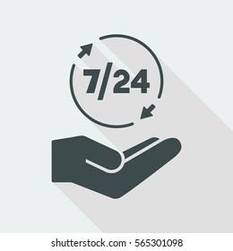 7/24 services - Vector web icon