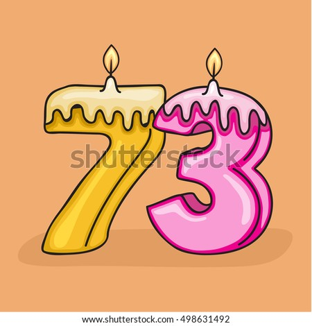73 Rd Birthday Candle Number Vector Design Template Elements For Your Celebration
