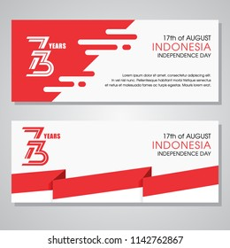 73 th Indonesia independence day, dirgahayu republik indonesia translation happy independence day republic of indonesia banner