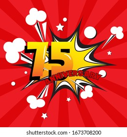 75 anniversary celebration vector concept design template illustration