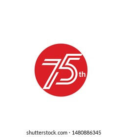 75 th years celebrate independent country icon design vector. 75 th anniversary celebration of indonesian country.