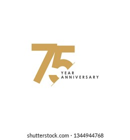 75 Year Anniversary Vector Template Design Illustration