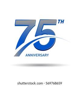 75 Years Anniversary Celebration Design.