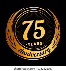 75 years anniversary. Anniversary logo design. 75 years logo.