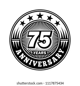 75 years anniversary. Anniversary logo design. Vector and illustration.
