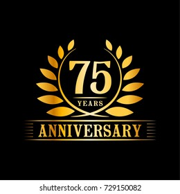 75 years anniversary logo template.