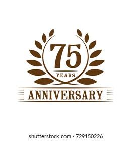 75 years anniversary logo template.