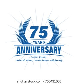75 years design template. Anniversary vector and illustration template.