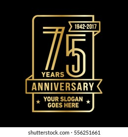 75 years logo.75th anniversary logo. Vector and illustration.