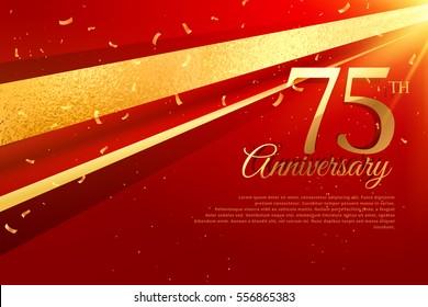 75th anniversary celebration card template