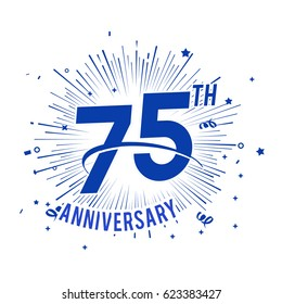 75th anniversary logo with firework and swoosh