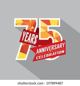 75th Years Anniversary Celebration Design