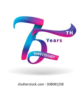 75th Years Anniversary Celebration Design.vector illustrator.