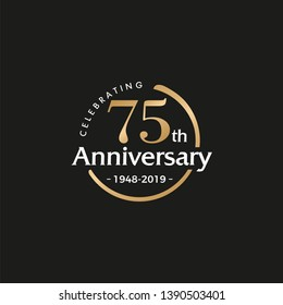 75TH/seventy-five/75 Years Anniversary Logo Vector Template Design Illustration
