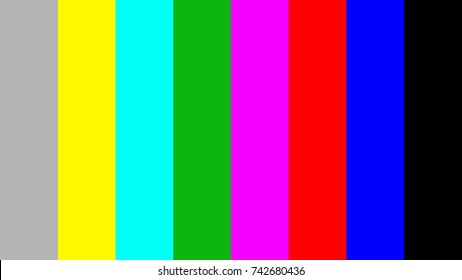 75/x/75/x Color bar for 16:9 video footage background, Full HD, 4K, 8K, vector illustration.