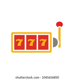 777 jackpot icon, vector casino gambling, machine slot