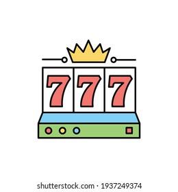 777 сolor line icon. Pictogram for web page, mobile app, promo. UI UX GUI design element. Editable stroke.