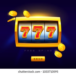777 Slots Game widget vector illustration. Juicy slots machine, Slots Assets Design art of fun. Play & Win with the Latest Slots Games