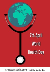 7th April World Health Day illustration vector image