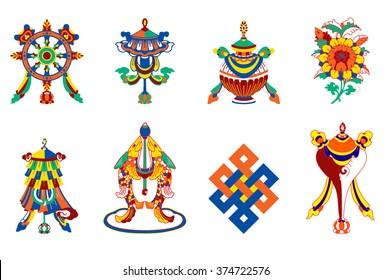 8  auspicious symbols of Buddhism