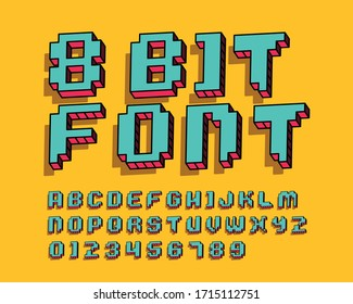 8 bit font set in vector format