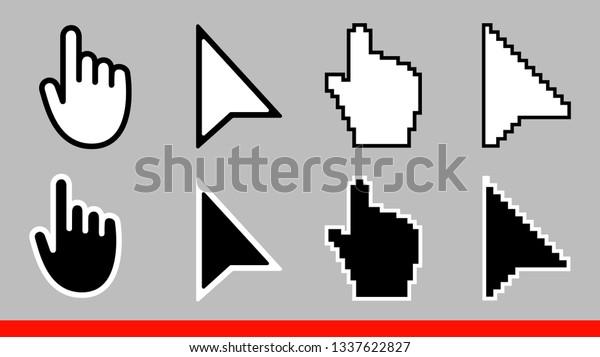 8 Black White Arrow Pixel No Stock Vector (Royalty Free