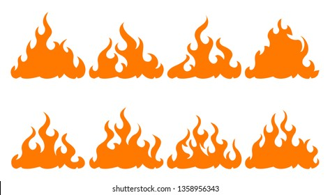 8 bonfire icon design element on white background