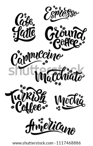 8 Coffee Quotes Vector Text Set Stock Vector Royalty Free