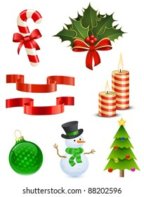 8 highly detailed Christmas vector illustrations