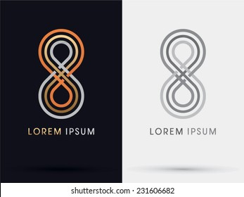 8, Limitless, infinity abstract,vector logo