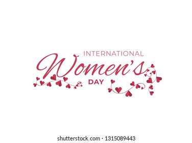 8 March with flowers. Vector postcard for Women day icon, card, invitation, poster, banner template