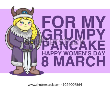 8 March Happy Womens Day Greeteng Stock Vector Royalty Free