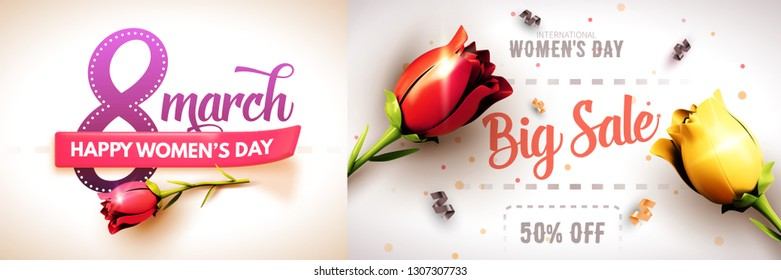 8 March. International Women's Day. Happy Mother's Day. Vector Illustration.