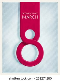 8 March, International Women's Day, eps 10