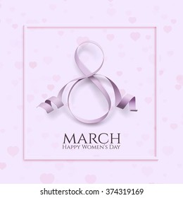 8 March international women's day background. Greeting card template. Vector illustration.