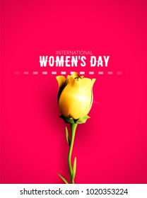 8 March sale flyer. International Women's Day. Happy Mother's Day. Flower isolated on background. Vector Illustration.