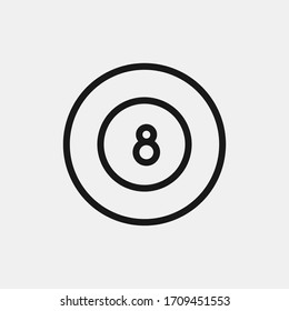 8 number billiard ball icon isolated on background. Snooker symbol modern, simple, vector, icon for website design, mobile app, ui. Vector Illustration