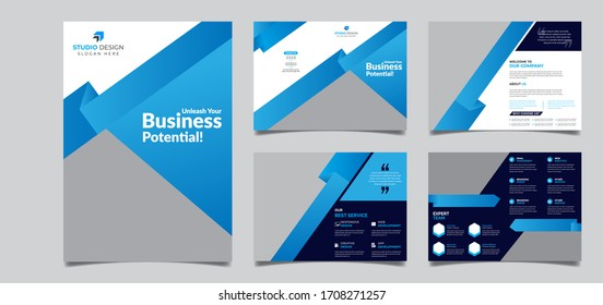 8 Pages Creative multipurpose Brochure template design with A4 Page Easy to edit magazine cover page design Use for marketing, print, annual report and business presentations and Multipurpose