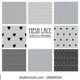 8 seamless mesh lace patterns.