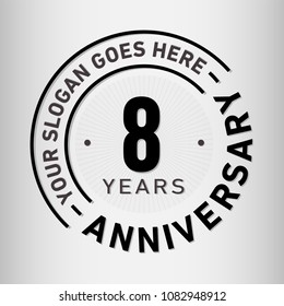 8 years anniversary logo template. Vector and illustration.