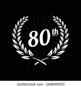 80 years anniversary celebration design template. 80th anniversary logo. Vector and illustration.