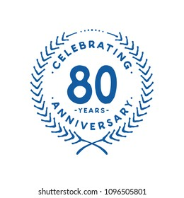80 years design template. 80th vector and illustration.