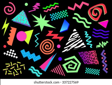 80s 90s Abstract Shapes