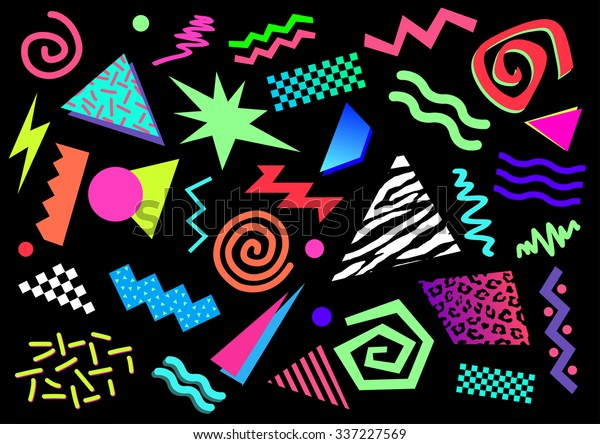 80s 90s Abstract Shapes Stock Vector Royalty Free 337227569 We hope you enjoy our growing collection of hd images to use as a background or home screen. https www shutterstock com image vector 80s 90s abstract shapes 337227569