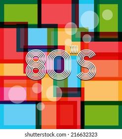 80's Art Background. Vector design