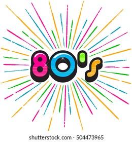 80's Burst Splash. Vector Illustration