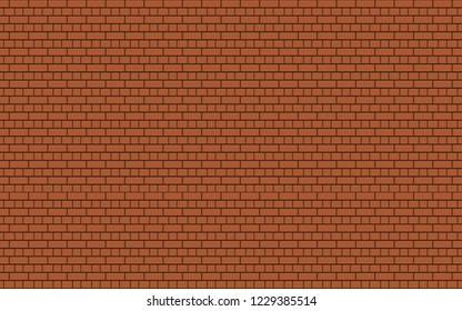80s Orange Game Console Brick Wall Seamless Pattern.Old video game. retro style Background.