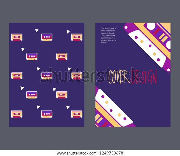 80s Retro Music Party Banner Cover Stock Vector (Royalty