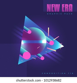 80's style abstract geometric composition