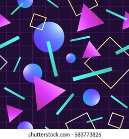 80's style seamless pattern.